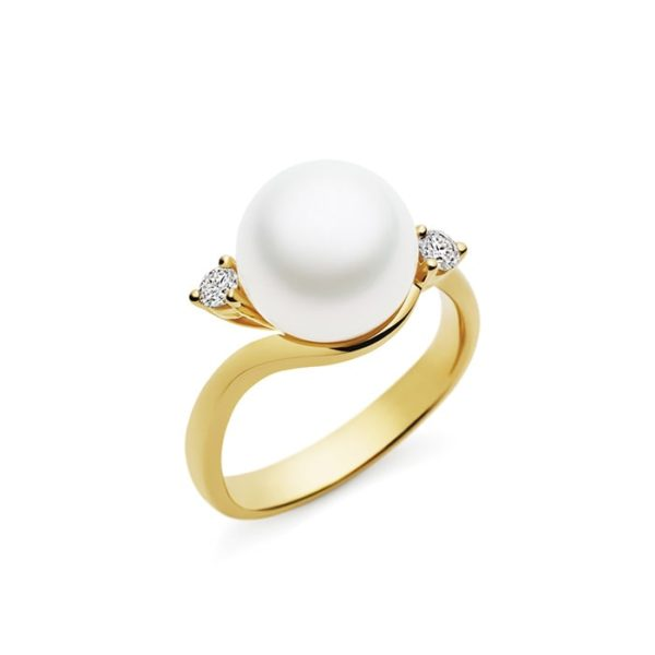 Kailis Embrace Pearl Diamond Ring 18ct Yellow Gold