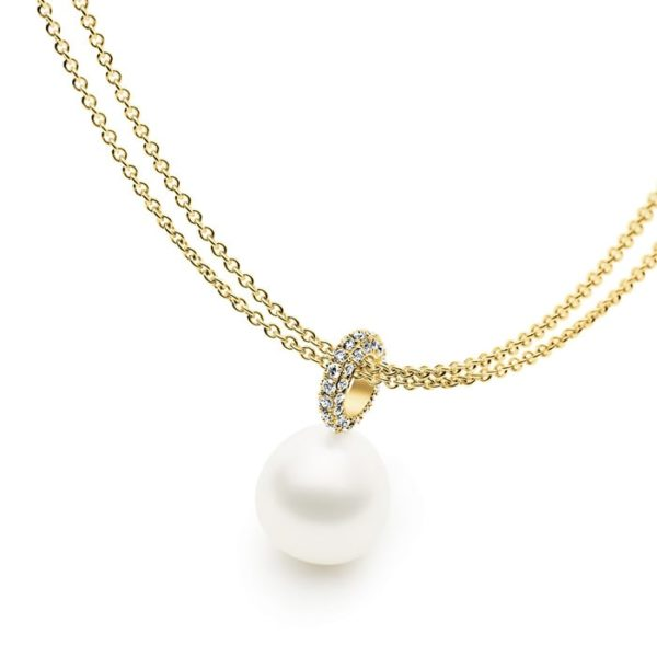 Kailis Tranquility Pearl Pendant Diamonds 18ct Gold