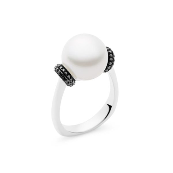 Tranquility Ring Black Diamonds -0