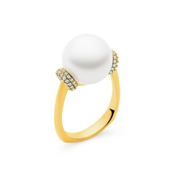 Kailis Tranquility Pearl Ring Diamonds 18ct Gold