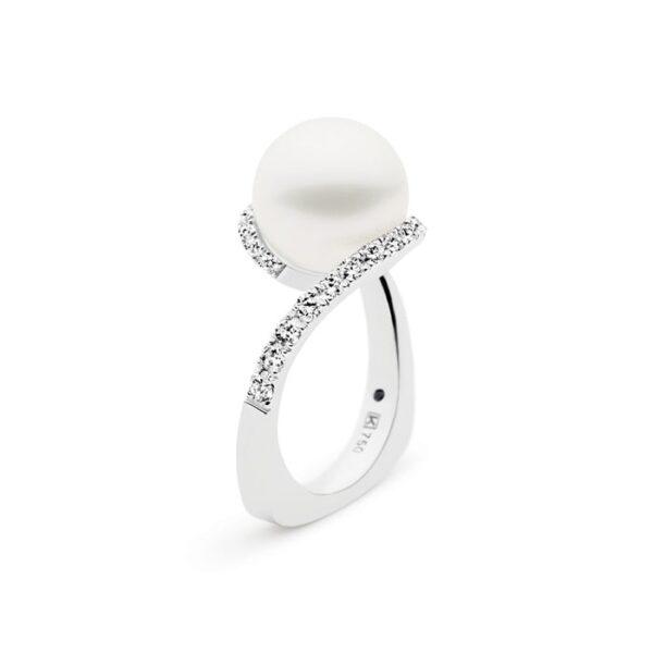 Kailis Angelic Pearl Ring Blanc Diamonds 18ct White Gold