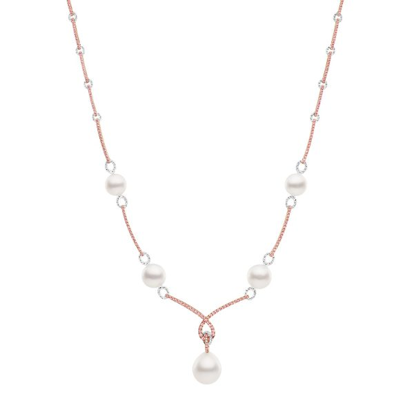 Kailis Angelic Pearl Necklace Rose Pink Diamonds 18ct White Gold