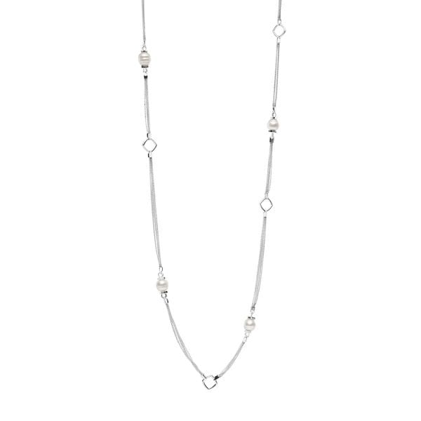 Kailis Lasso Opera Pearl Necklace, Sterling Silver