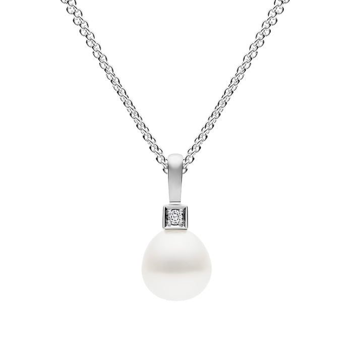 Kailis Luna Pearl Diamond Pendant 18ct White Gold