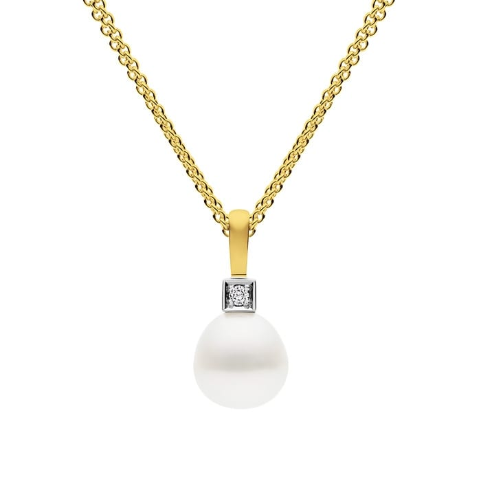 Kailis Luna Pearl Diamond Pendant 18ct Yellow Gold