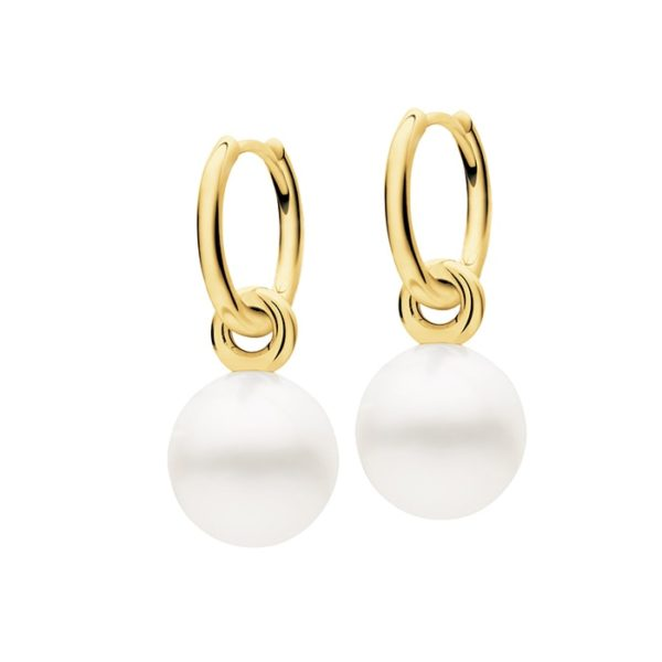 Kailis Tranquility Huggie Pearl Earrings 18ct Gold