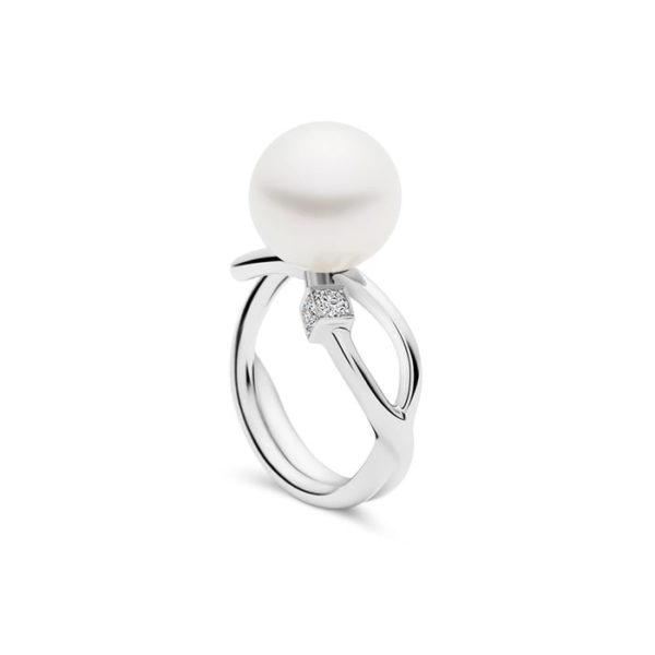 Kailis Eclipse Pearl Diamond Ring 18ct White Gold