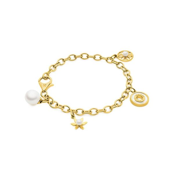 Kailis 18ct Gold Charm Bracelet with Pearl Charms