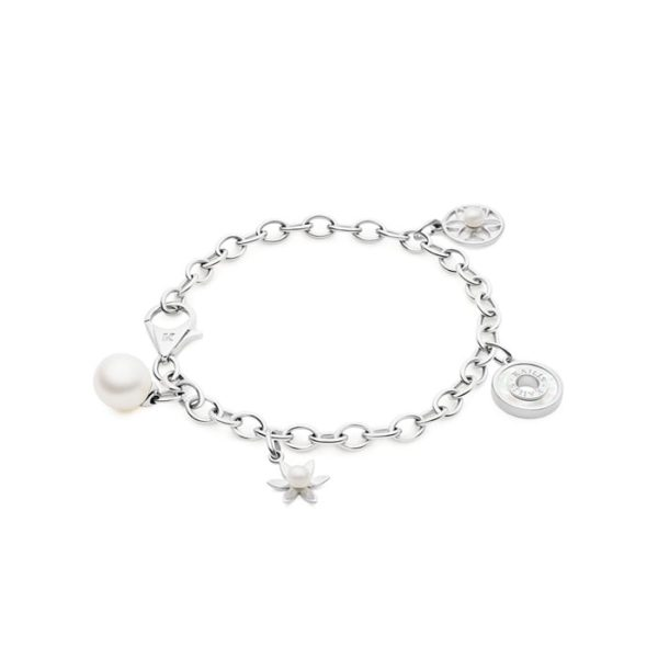 Kailis 18ct White Gold Charm Bracelet with Pearl Charms