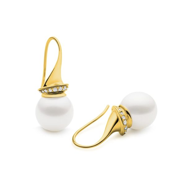Kailis Swan Earrings in 18ct Yellow Gold