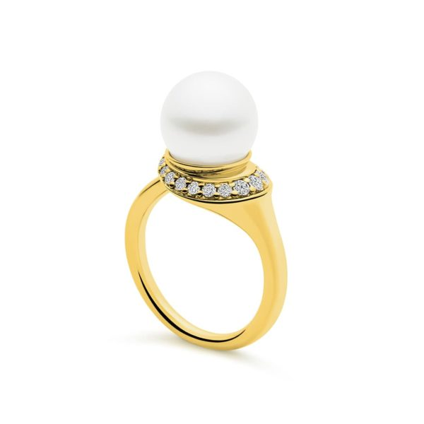 Kailis Swan Pearl Ring in 18ct Yellow Gold