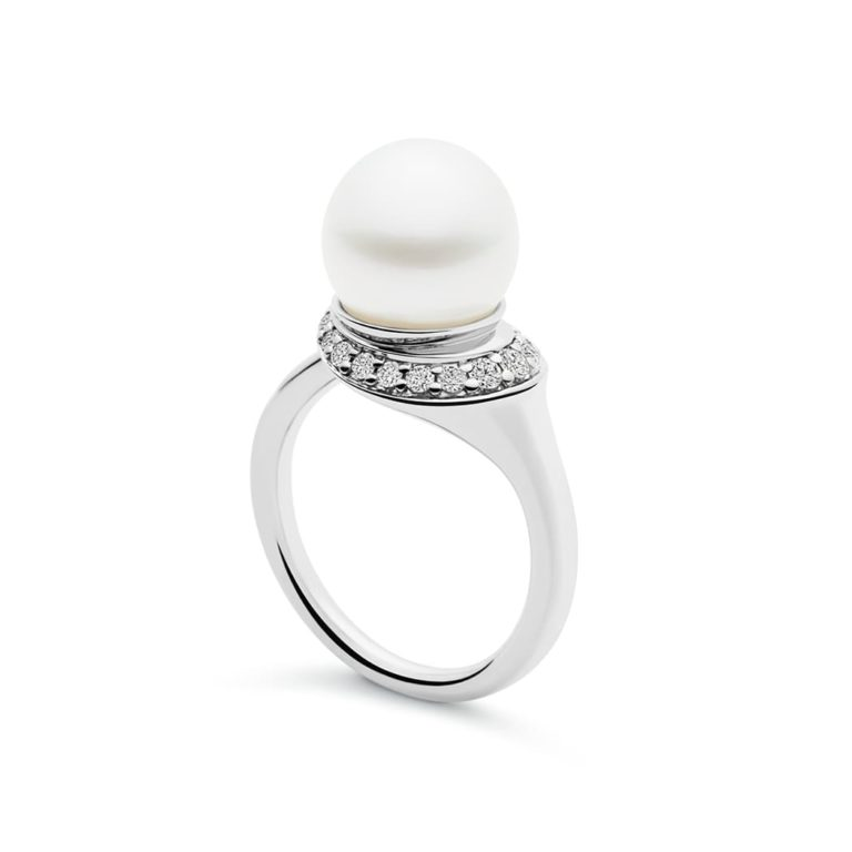 Kailis Swan Pearl Ring in 18ct White Gold