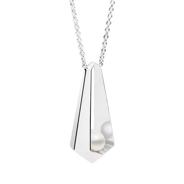 Nyx Keshi Pearl Necklace, 925 Sterling Silver
