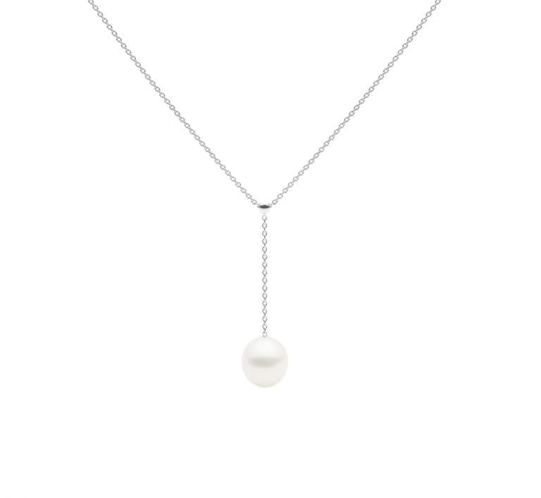 Negligee Necklace, White Gold-5372
