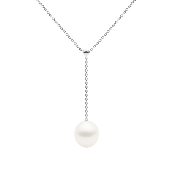 Negligee Necklace, White Gold-0