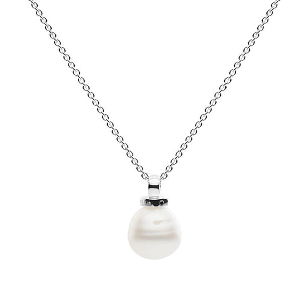 Geometric Pearl Necklace -0