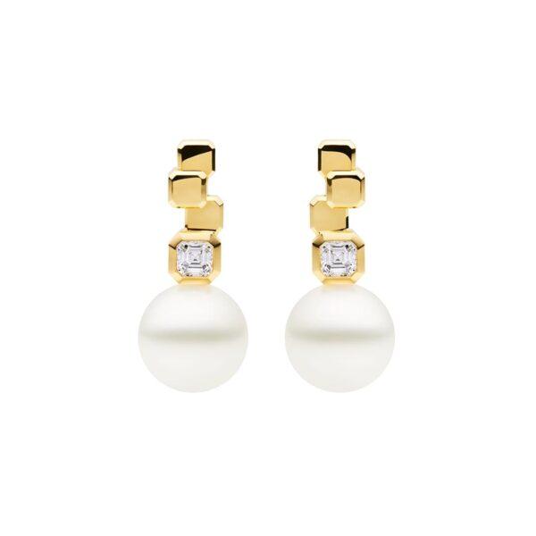 Nouveau Meridian Stud Earrings, 18ct Yellow Gold