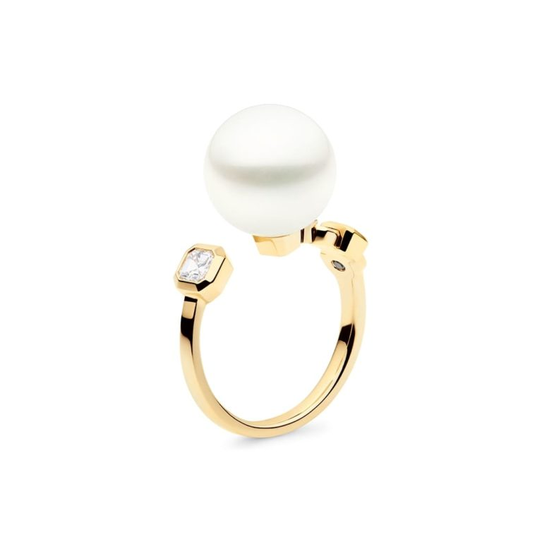 Nouveau Meridian Ring, 18ct Yellow Gold