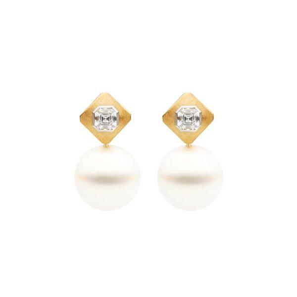 Royal Meridian Stud Earrings, 18ct Yellow Gold