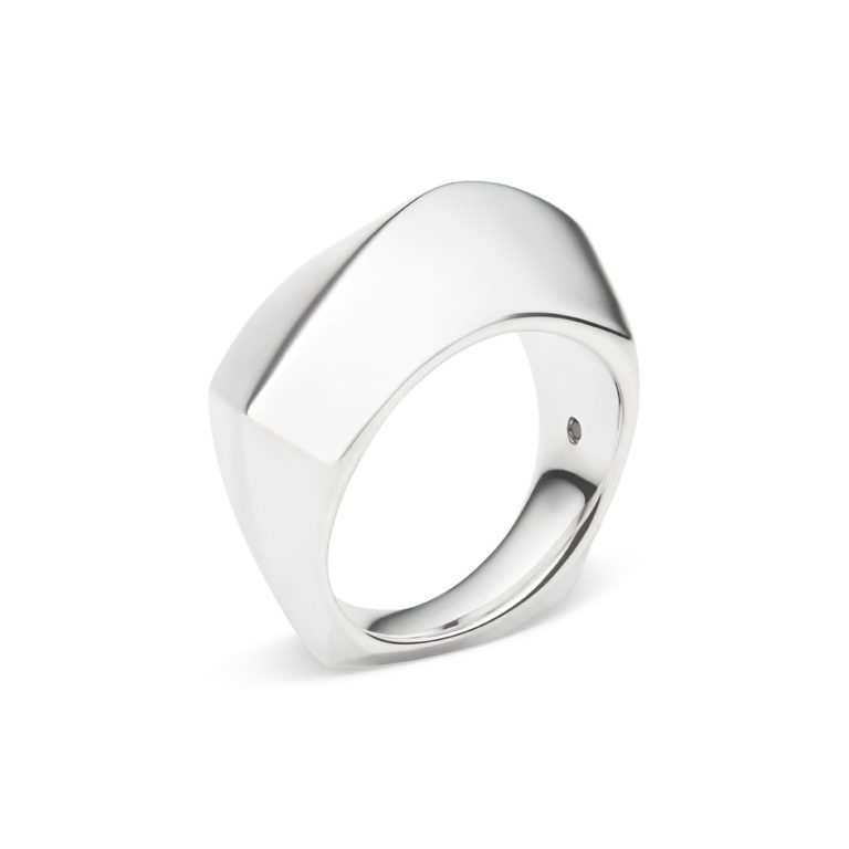 Fluid Ring, Sterling Silver