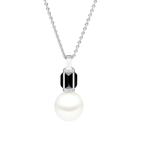 Kailis Sugarloaf By Night Pendant, Black Onyx, 18ct White Gold