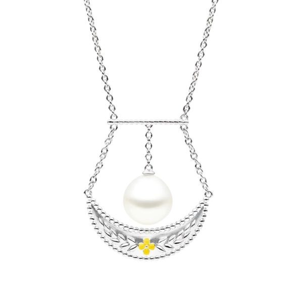 Verity Pearl Necklace, Sterling Silver