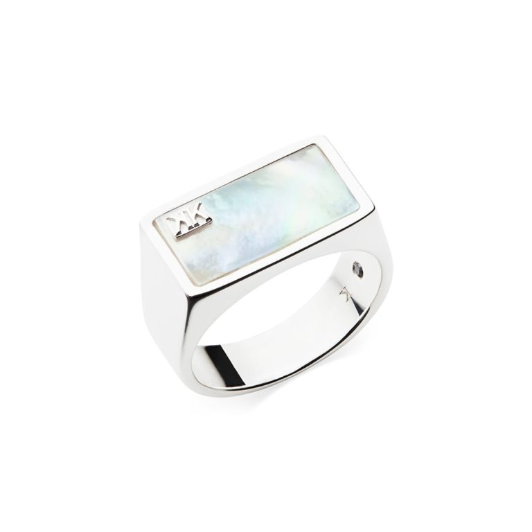 Longitude West Ring, Sterling Silver