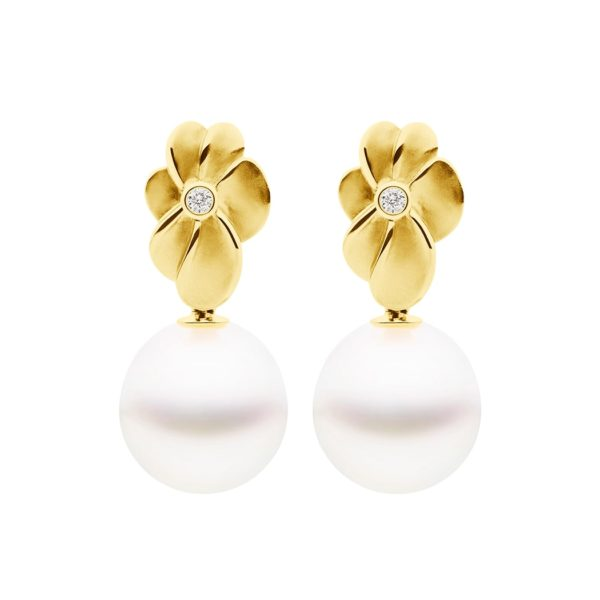 Bloom Earrings Yellow Gold