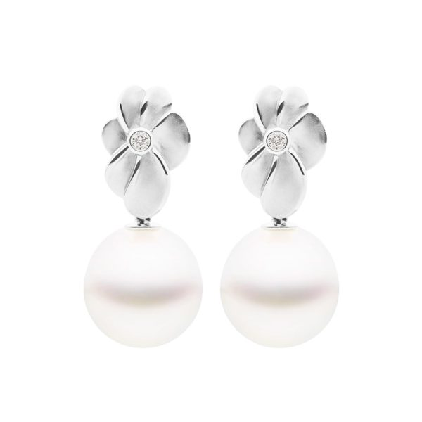 Bloom Earrings White Gold
