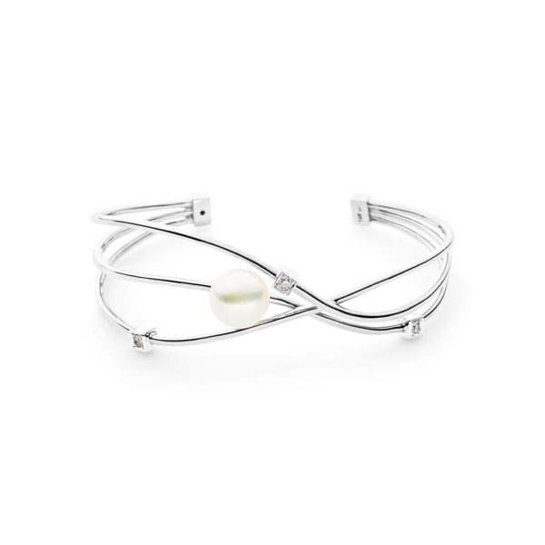 Orbit Cuff, White Gold
